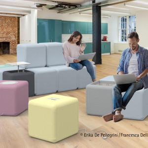 Moduły te są wyposażone w różne rozwiązania, np. w wentylację pomieszczenia. Projekt: Erika de Pellegrini, Francesca Della Bianca. Fot. Hettich/Rehau