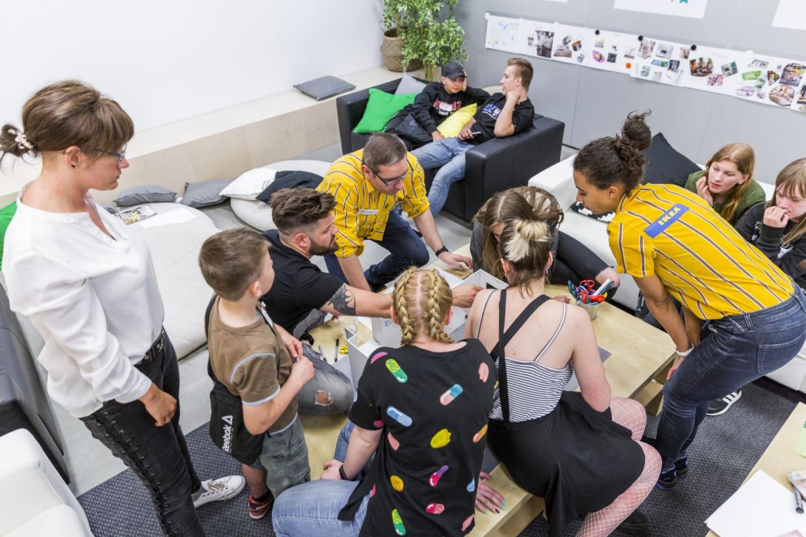 IKEA wsparła program Pozytywni na Start, realizowany przez SPS Riposta. Fot. IKEA