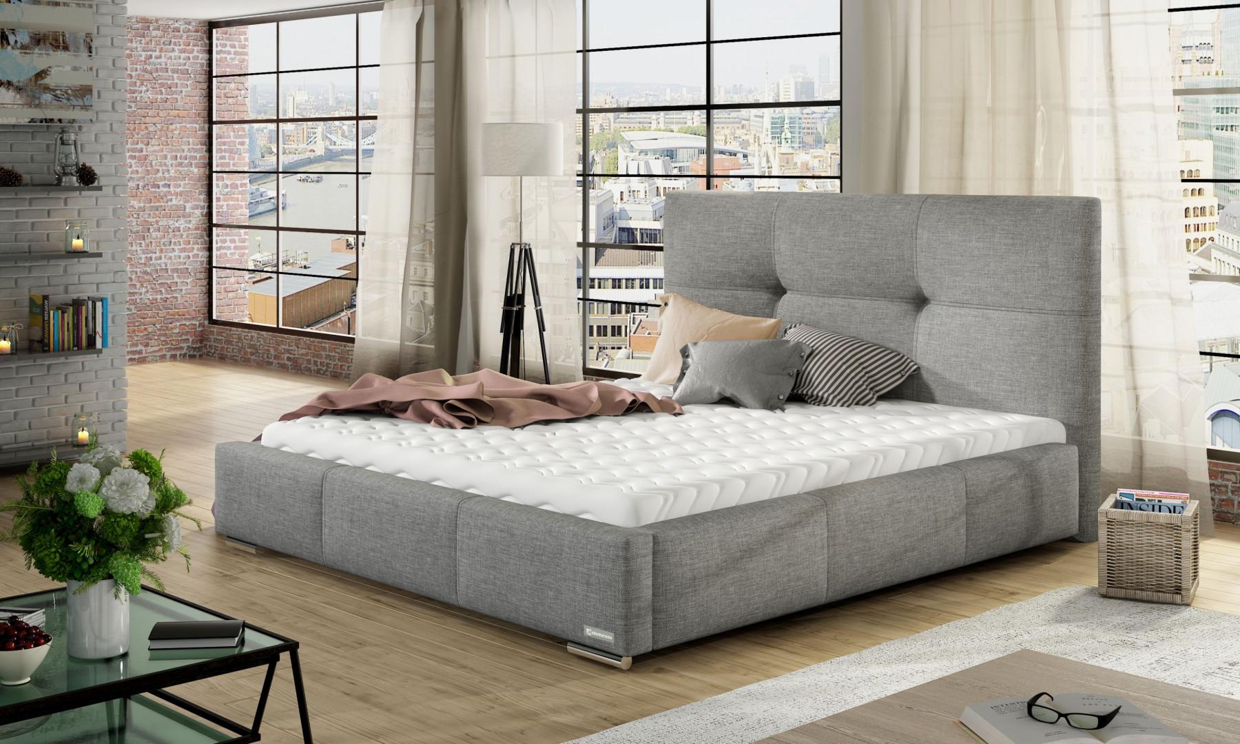 Łóżko tapicerowane Lily marki Comforteo. Fot. Comforteo