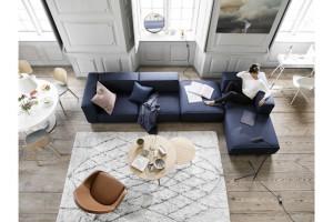 12 niebieskich sof w nowoczesnym stylu