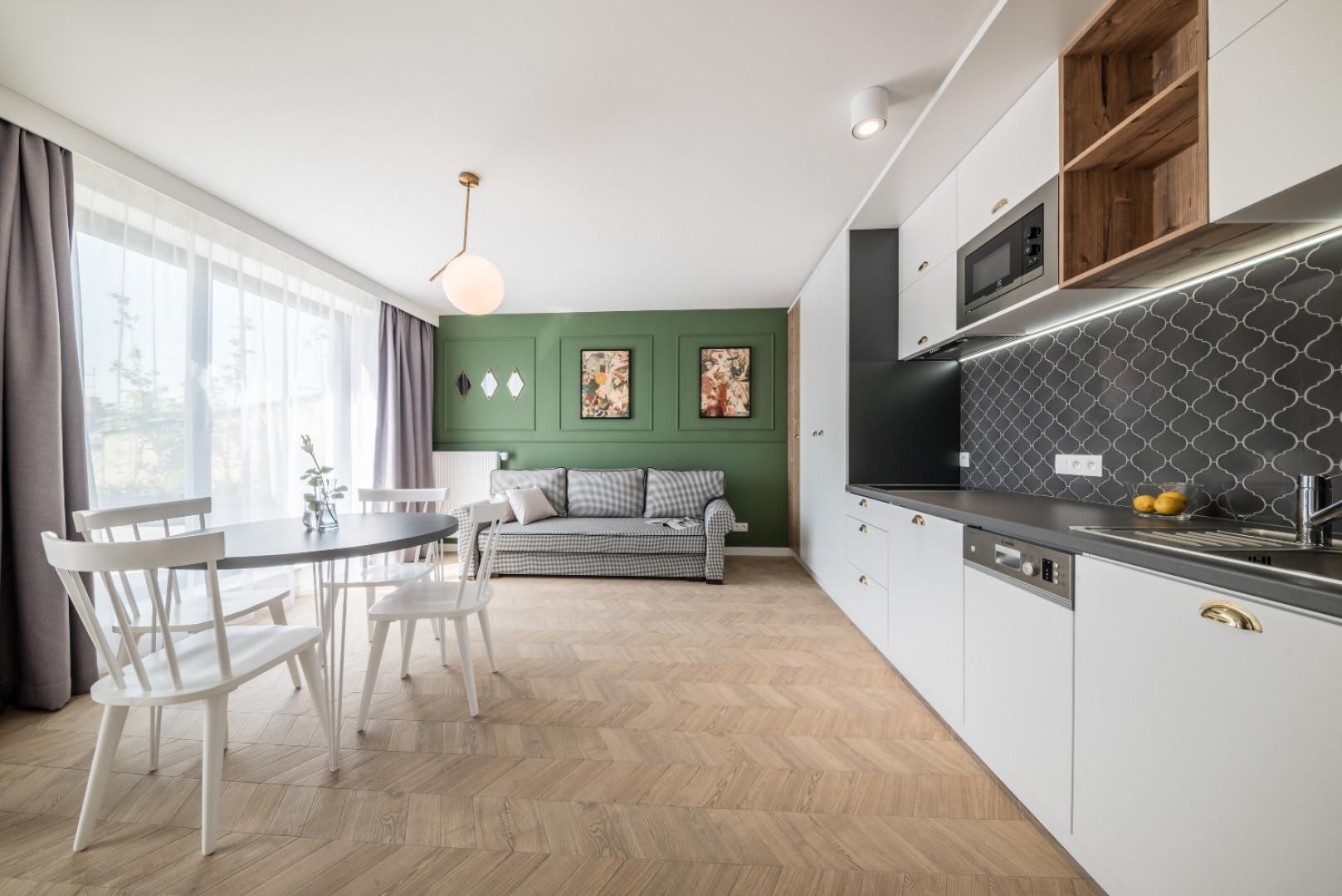 Wnętrze apartamentu w Krakowie zaprojektowanego przez pracownię Grid Studio Projektowe. Fot. Grid Studio Projektowe