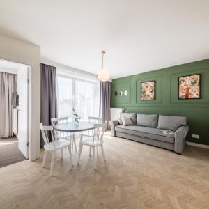 Wnętrze apartamentu w Krakowie, zaprojektowanego przez pracownię Grid Studio Projektowe. Fot. Grid Studio Projektowe
