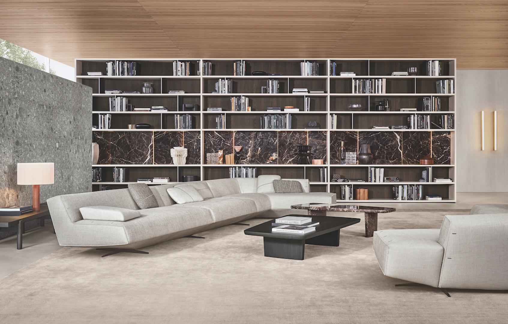 Biblioteka na całą ścianę? Dlaczego nie! Fot. Poliform/Studio Forma 96