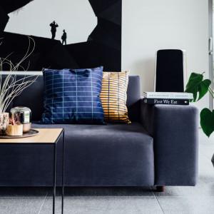 Sofa w tkaninie welwetowej marki Davis. Fot. Davis