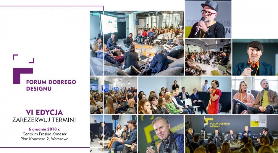 Znamy termin VI Forum Dobrego Designu!