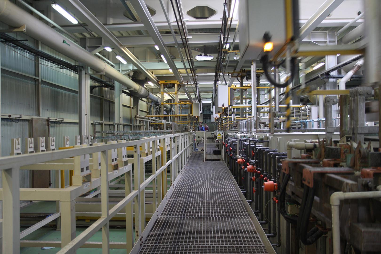 Linia galwaniczna w fabryce firmy Gamet. Fot. Gamet