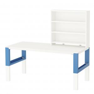 Biurko z nadstawką z półkami. Fot. IKEA