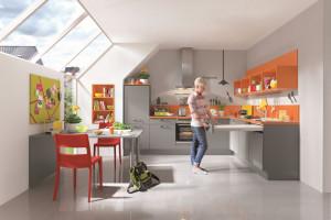 Meble kuchenne: umebluj wnętrze pod skosami