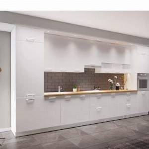 Dwie różne wysokości szafek wiszących w jednym systemie mebli? Tak, bo odpowiadają różnym oczekiwaniom użytkowników kuchni. Fot. Kam