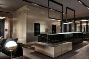 Luksusowe meble i detale w apartamencie pokazowym warszawskiego dewelopera