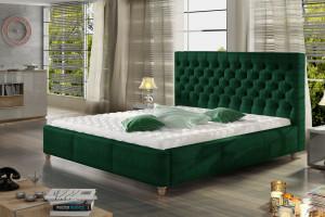 Łóżka do sypialni - skuś się na butelkową zieleń
