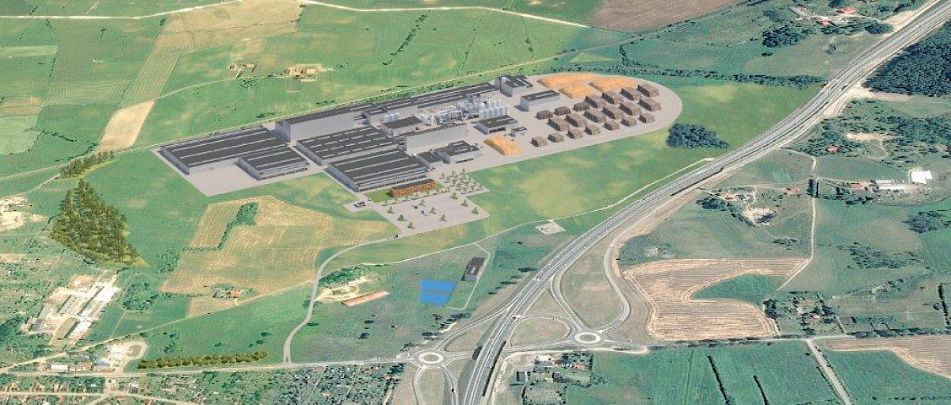 Firma Egger buduje fabrykę w Biskupcu. Fot. Egger