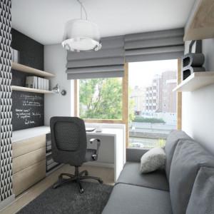 Jeśli usytuujemy biurko pod oknem, będziemy mogli korzystać ze światła dziennego. Fot. Pracownia Architektoniczna MGN