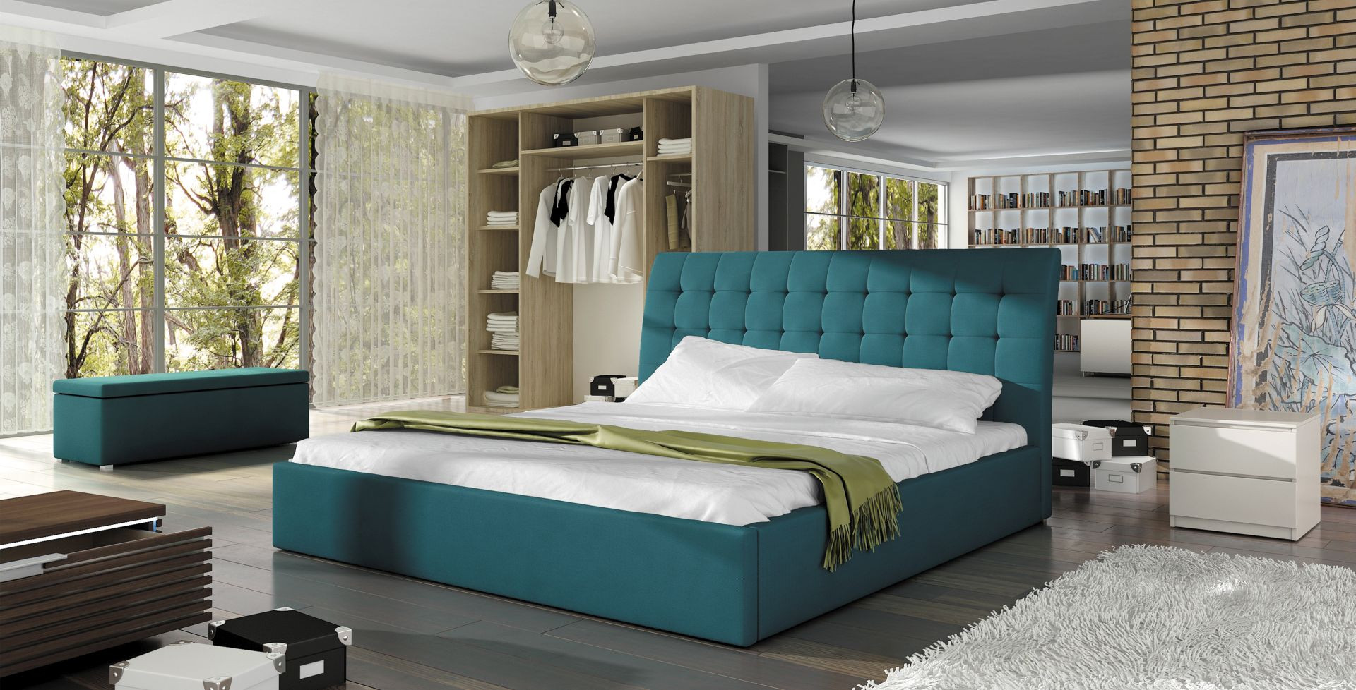 Łóżko Terasso firmy Wersal. Fot. Wersal