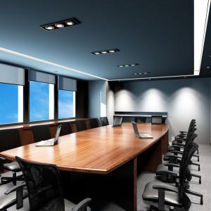 Oprawy w biurze pełnią funkcję nie tylko użytkową, ale też dekoracyjną. Fot. GTV