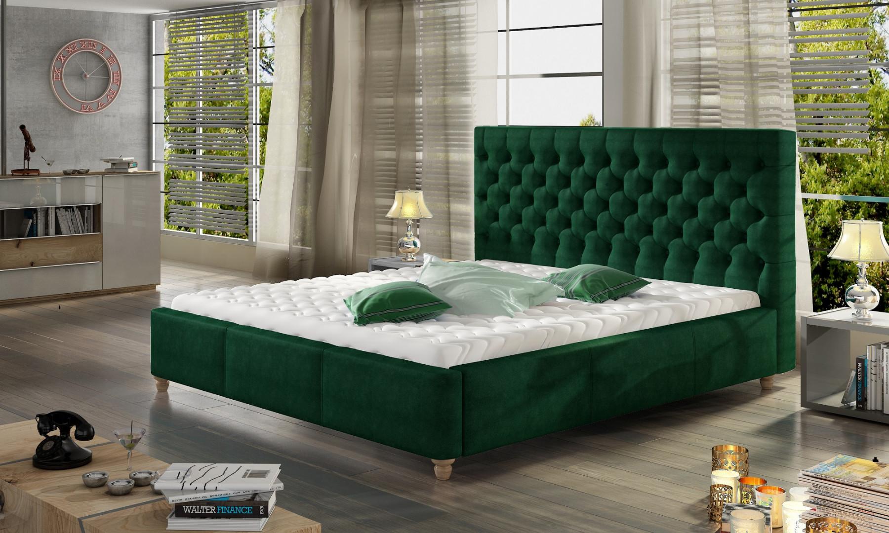 Łóżko tapicerowane Chester marki Comforteo. Fot. Comforteo