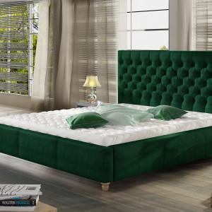 Łóżko tapicerowane Chester. Fot. Comforteo