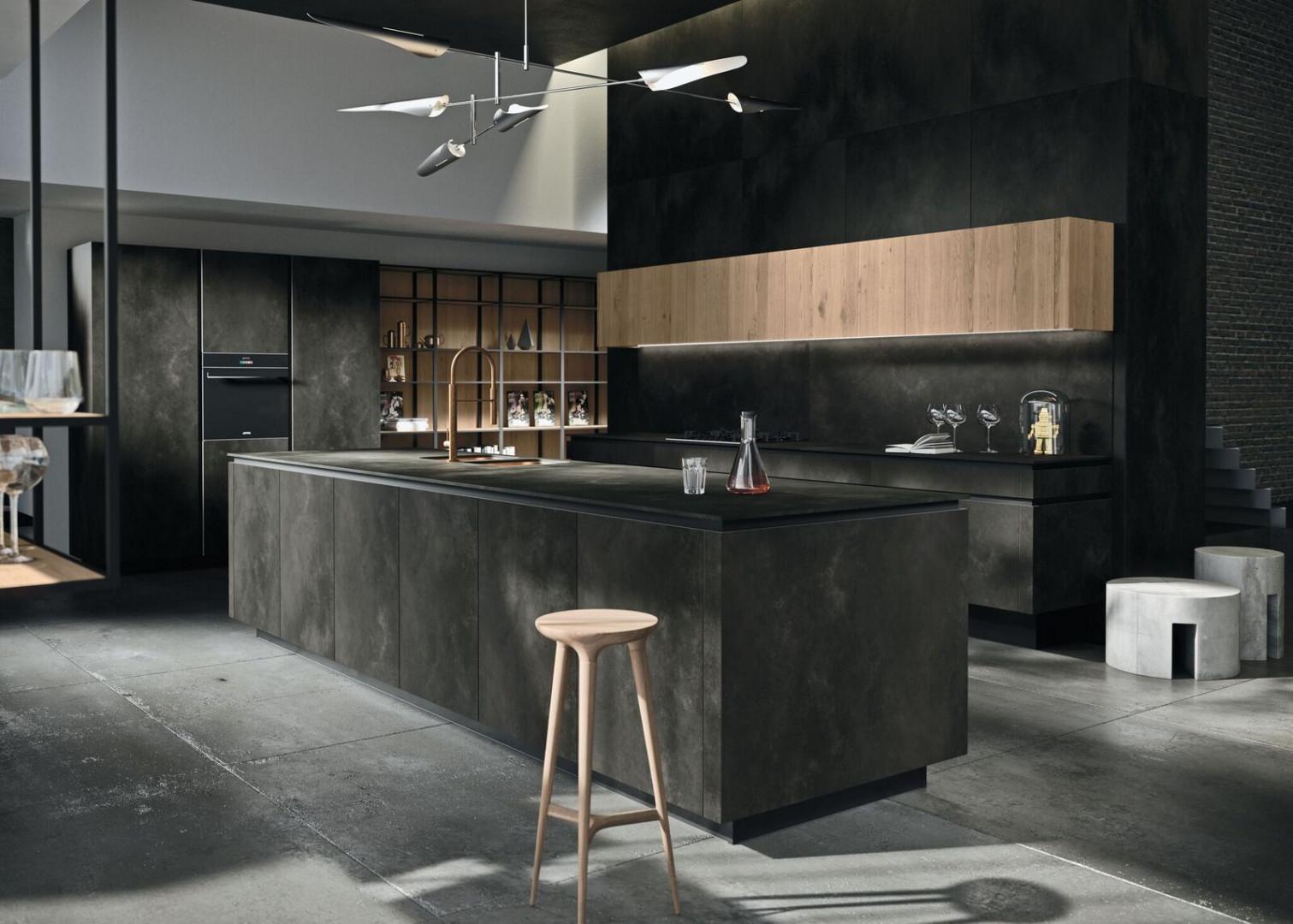 Kolory betonu stworzą industrialny klimat w kuchni. Fot. Laminam