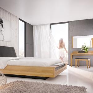 Łóżko Maganda z funkcjonalną ławeczką. Fot. Mebin