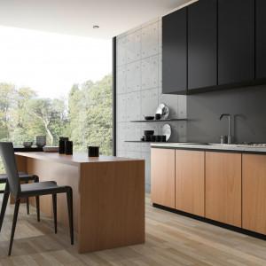 Szkło polimerowe nadaje się do wykorzystania zarówno w małej kuchni, jak i większej – otwartej, połączonej niekiedy z innym pomieszczeniem, np. salonem. Fot. Rehau
