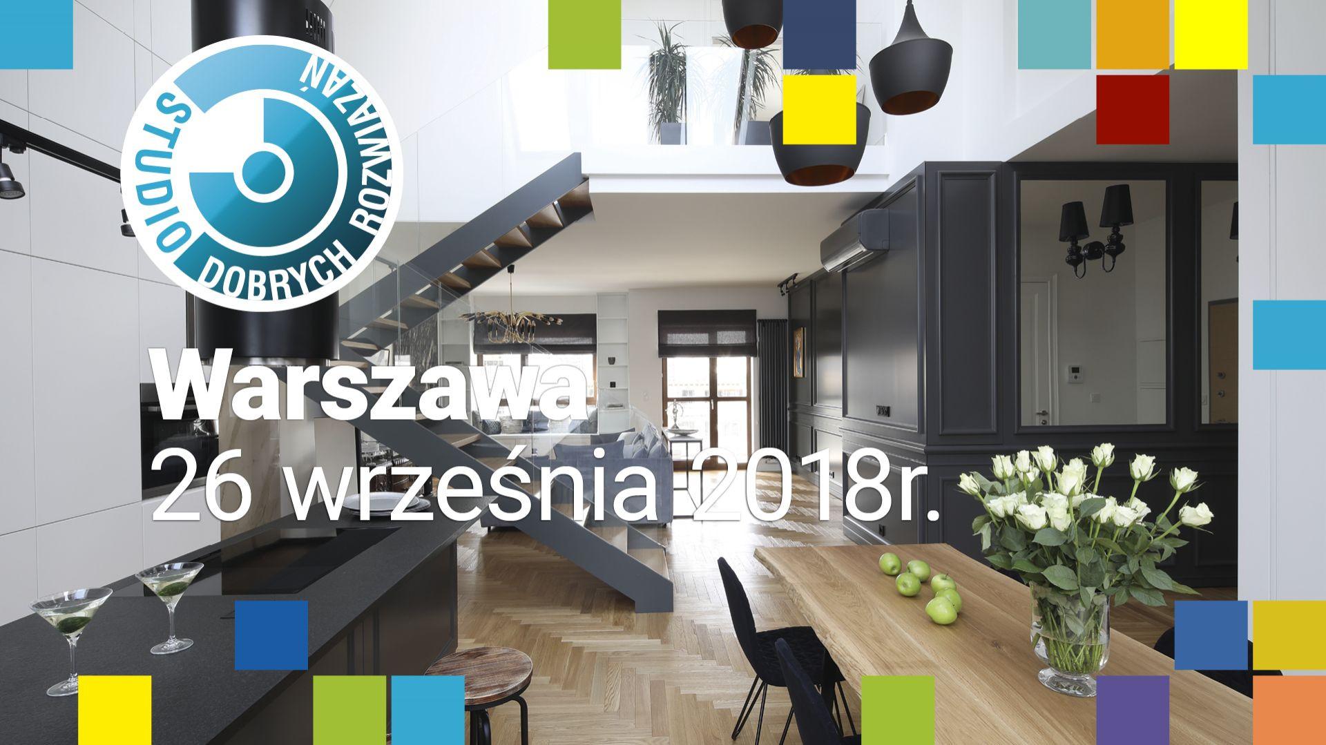Studio Dobrych Rozwiązań odbędzie się w Warszawie 26 września 2018 r.