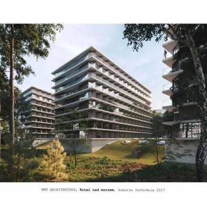 Hotel nad morzem, Pomorze Zachodnie, 2017. Projekt i wizualizacja HMS Architektura