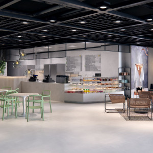 Strefa Bistro i Cafe w nowym salonie IKEA. Fot. IKEA