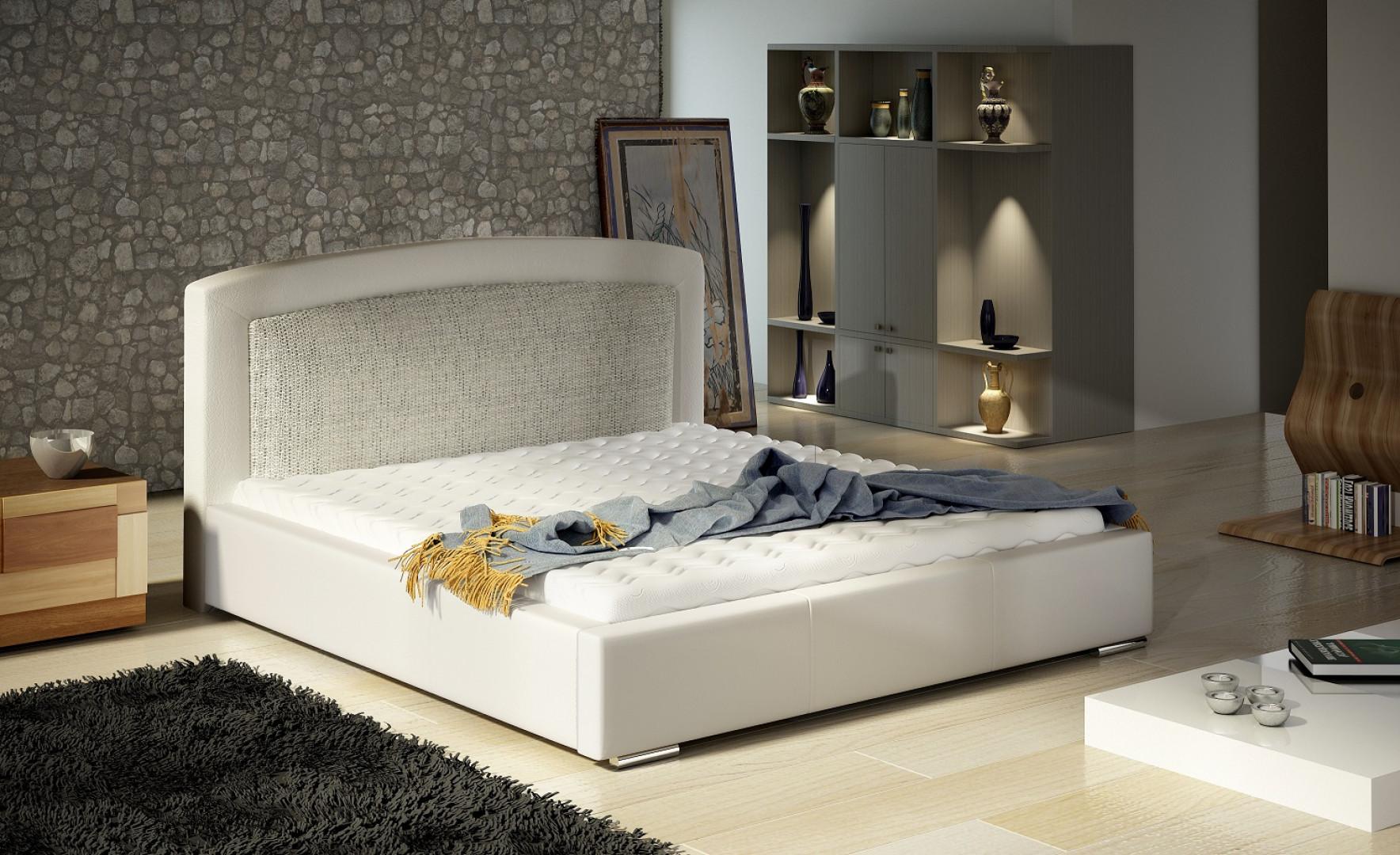 Łóżko tapicerowane Dona marki Comforteo. Fot. Comforteo