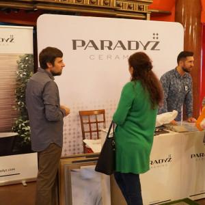 Stoisko firmy Ceramiki Paradyż - partnera głównego spotkania. Fot. Katarzyna Zacharewicz-Łukaszuk