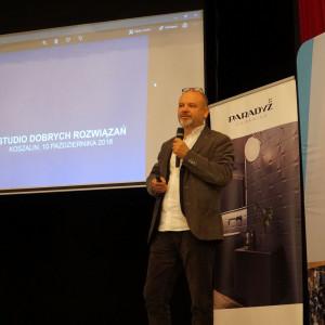Gościem specjalnym Studia Dobrych Rozwiązań w Koszalinie był architekt Dariusz Herman. Fot. Katarzyna Zacharewicz-Łukaszuk