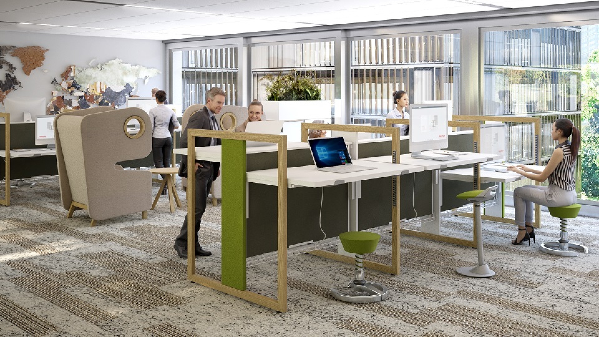 Biurko typu sit&stand Stand Up firmy Mikomax Smart Office. Fot. Mikomax Smart Office