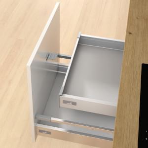 Zabierak InnoTech Atira zamontowany w szufladzie. Fot. Hettich