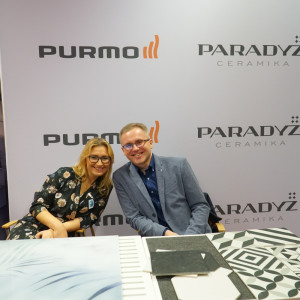 Stoisko partnerów głównych - firm Ceramika Paradyż i Purmo.