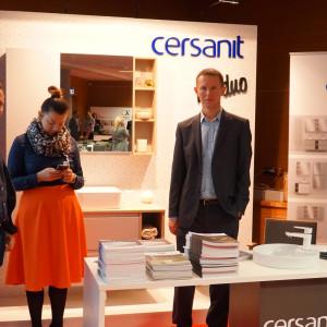 Stoisko partnera głównego, firmy Cersanit.