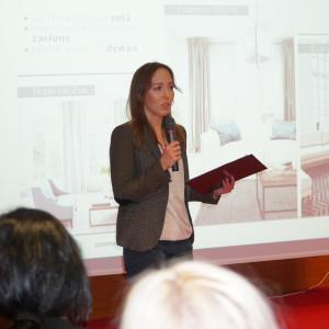 Prezentacja Justyny Mroczek, reprezentującej firmę Fargotex.