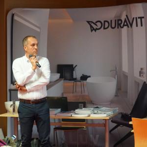 Wystąpienie Tomasza Maślanki z firmy Duravit.