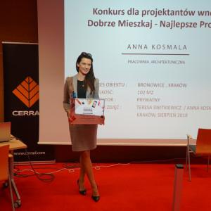 Anna Kosmala, nagroda w konkurse Dobrze Mieszkaj - Najlepsze Projekty