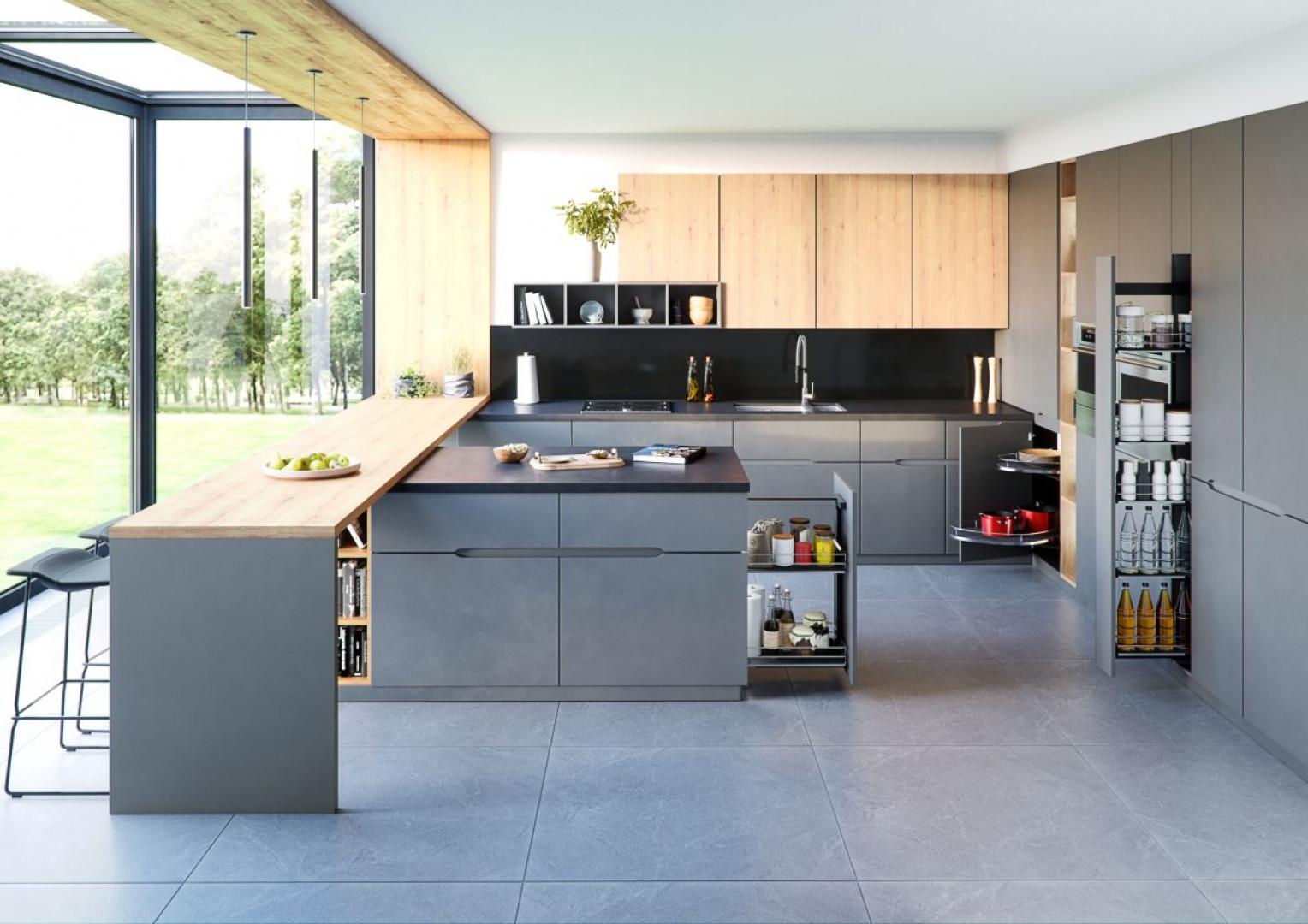 Nowoczesna kuchnia wymaga wielu praktycznych miejsc do przechowywania. Fot. Rejs