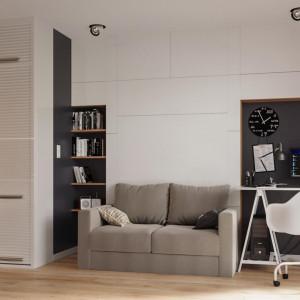 W salonie wykorzystujmy każdą wolną przestrzeń. Fot. The Space