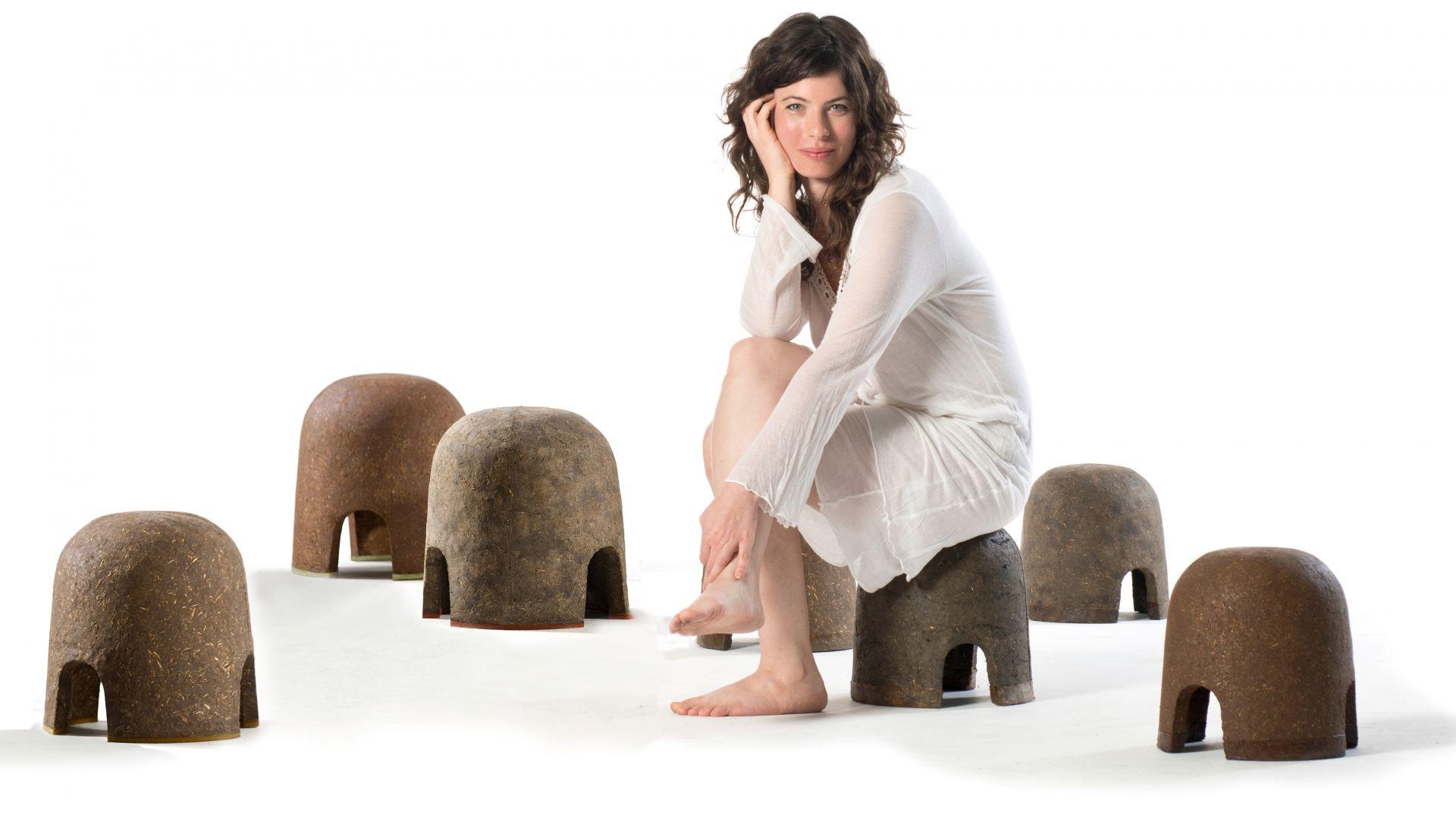 Stołki projektu Adital Ela, stworzone dla marki Criaterra