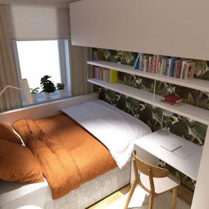 Nawet najmniejszą sypialnię można funkcjonalnie urządzić. Proj. Artes Design i SZARA/studio