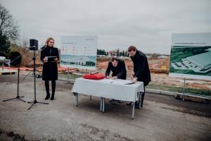 Nowa inwestycja firmy Meble Wójcik - wmurowanie kamienia węgielnego