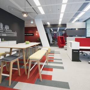 Biurowa przestrzeń socjalna to miejsce do spotkań i integracji pracowników. Fot. Grupa Nowy Styl