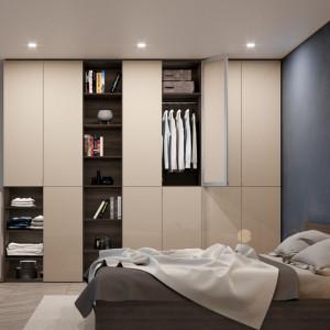 Sypialnia z szafą firmy Komandor (system