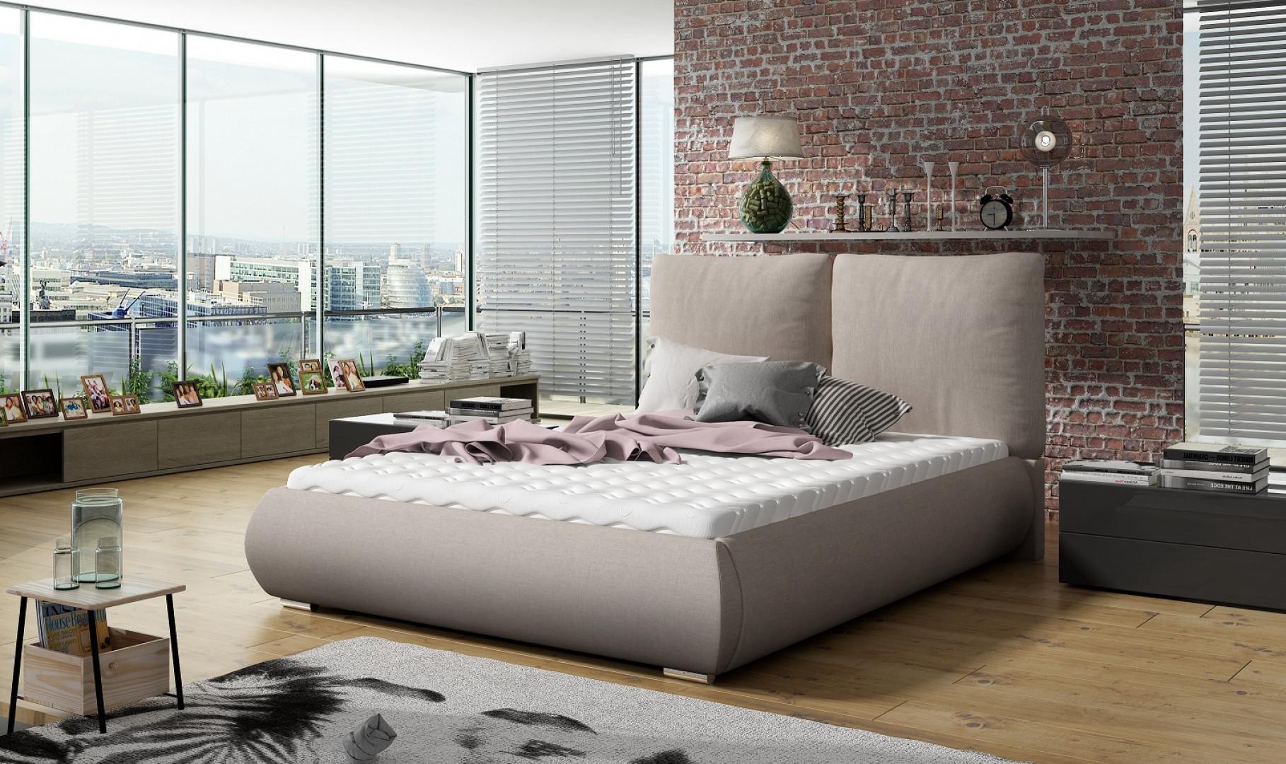 """Łóżko tapicerowane """"Unity"""" marki Comforteo. Fot. Comforteo"""