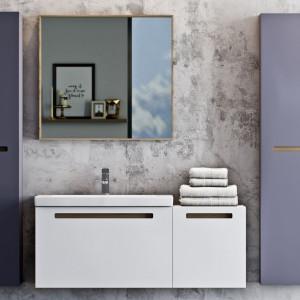"""Szafki z kolekcji """"Senso"""" firmy Deftrans mają grafitowe wnętrza, które podkreślają wrażenie elegancji. Fot. Deftrans"""
