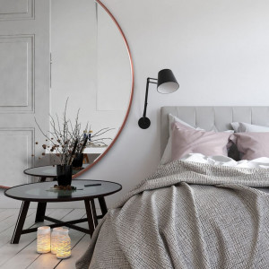 NAGRODA GŁÓWNA Scandi Slim - duże, okrągłe lustro w cienkiej ramce GieraDesign. Kategoria Przestrzeń Sypialni i Garderoby