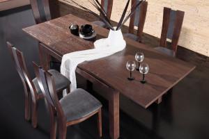 Jadalnia w kolorze gorzkiej czekolady - klasyka z nutą retro