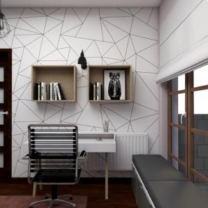 Wnętrze, zaaranżowane w nowoczesnym stylu z elementami loftu, odzwierciedla gust znającej się na trendach licealistki. Projekt: Małgorzata Górska-Niwińska (Pracownia Architektoniczna MGN).