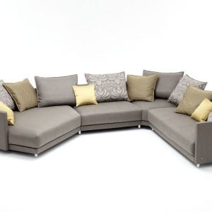 Kolorowe poduszki odmienią wygląd naszej sofy. Fot. Rolf Benz